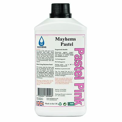 Mayhems Pastel Pre Mixed Water Cooling Liquid Coolant Pink Fluid 1 Litre