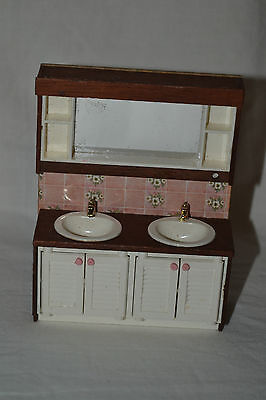 Vintage Lundby Style Bath Basin/Sink Doll House Piece NEW Sweden 70's Original