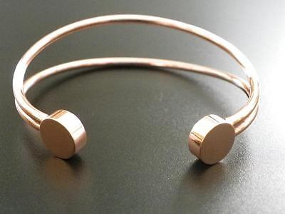 Magnetic Bracelet, Pure Copper with 2 x 3000 Gauss Neodymium Magnets