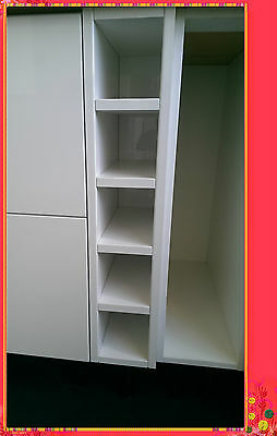High Gloss White Kitchen Cabinet Base Wine Rack