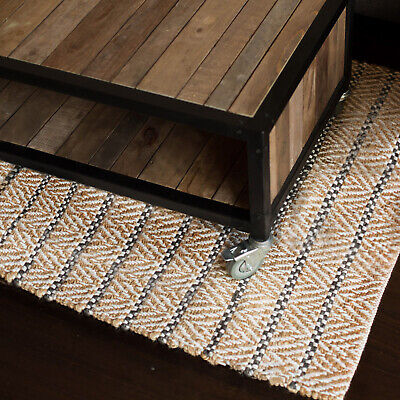 75X240 Runner Jute Floor Rug Aster Modern Fab Rugs Natural Hampton Flatweave New