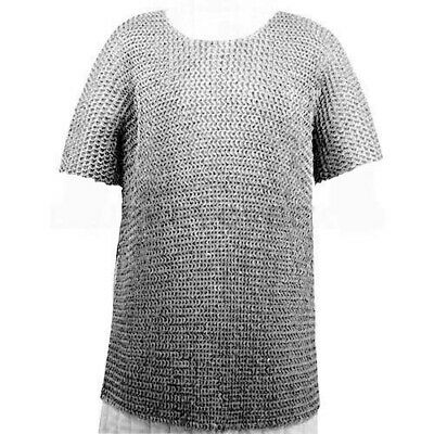 Christmas Presents Xmas Gift Aluminium Large Round Riveted Chain Mail Shirt a1