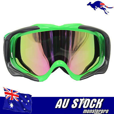 Green Tinted Lens  Dirt Bike Gear-MX Motocross Moto X Adult Youth Goggles