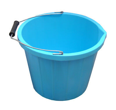 ProStable Water Bucket Light Blue x 3 Gallon - Horse/Pony Stable/Yard