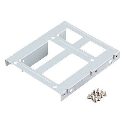2-Bay 2.5 SSD HDD Hard Disk to 3.5 Drive Bay Converter Adapter Rack Bracket IF