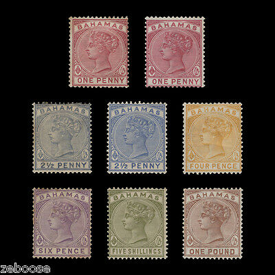 Bahamas 1884-90 (Unused) Definitives. cat £550+