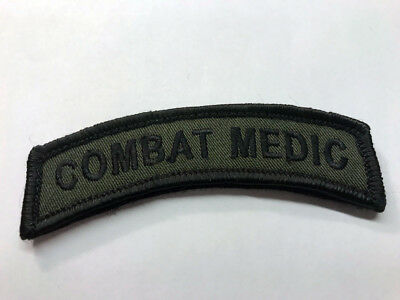 WAX BACKED - OD Combat Medic Embroidered Tab / Combat Medic  Navy Corpsman - DOC