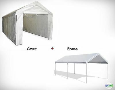 outdoor carport canopy car shelter frame 10x20 garage cover tent portable gazebo
