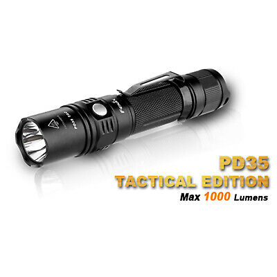 Fenix PD35 TAC 1000 Lumen LED Cree XP-L V5 Taschenlampe Flashlight Strobe + Batt