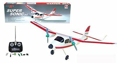 "20"" Wingspan Super Sonic RC Plane w Twin Motors Remote Control Christmas Toy SS4"