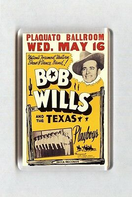 Vintage Country Music Concert Poster Fridge Magnet - Bob Wills