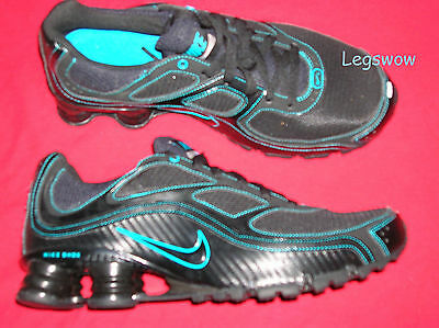 Nike Shox Turbo + 9 Running Shoes Black Blue Sneakers Mens 7.5 New Trainers Ipod