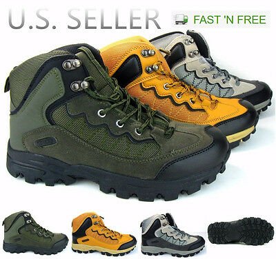Men's Hiking Boots Trail Camping Outdoor Shoes Sneakers Ankle High Top Walking