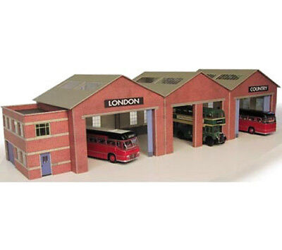 Metcalfe Bus Garage N Gauge Card Kit PN125