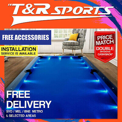 8Ft Blue Mdf Pool Snooker Led Table Free Gift Pack Free Syd Mel Bne Metro Post