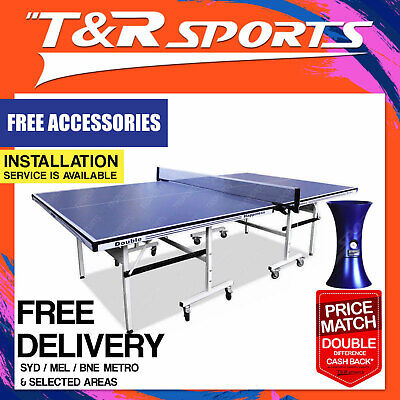 Double Happiness Outdoor Table Tennis /ping Pong Table Free Dhs Gift+ Ipong Mini