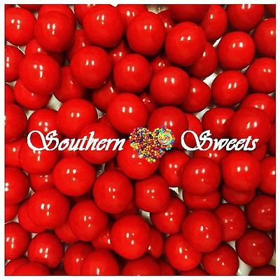 Red Chocolate Balls 1Kg Crunchy Red Lollies Choc Centre Appr 330Ct