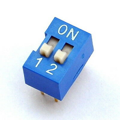 10x  2 Way DIP Switch, 2 Position 4 pin PCB Mountable