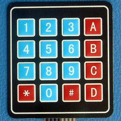 16-Key Membrane Switch Keypad, Keyboard, For MCU Proj.