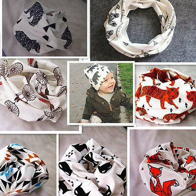 Kids Baby Toddler Scarves Neck Wraps Ring Scarf Shawl Neckerchief 11 Patterns ms