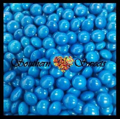 Blue Choc Buttons 1Kg Crunchy Chocolate Drops Beanies Blue Lollies Candy
