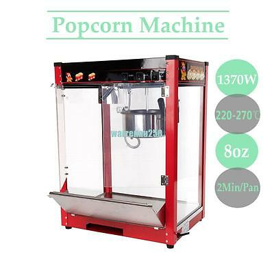 1370W 220V 8oz Commercial Electric Table Top Popcorn Popper Maker Machine
