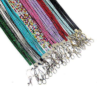 Lanyard Bling Diamonte Rhinestone Crystal Strap Neck Id Card Key Badge Holder