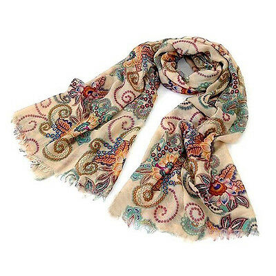 Exquisite Women Long Soft Chiffon Scarf Wrap Large Silk Winter Shawl Stole Scarf