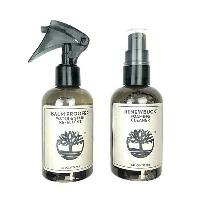 Timberland Product Care 2 PCS Balm Proofer Protecter Renewbuck Cleaner Spray