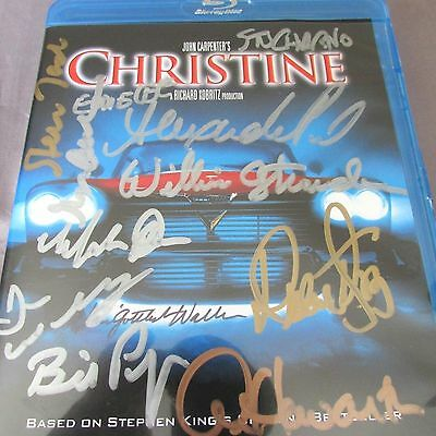 John Carpenter's 14 Cast & Crew Signed Christine 2015 Blu-Ray