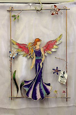 Stained Glass Fairy Window Hanger 97792 Garden or Home Decor