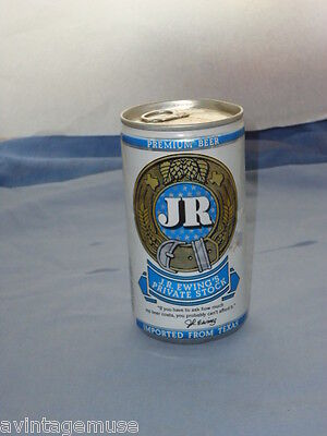 J.R. EWING Private Stock VINTAGE BEER CAN COLLECTIBLE BARWARE