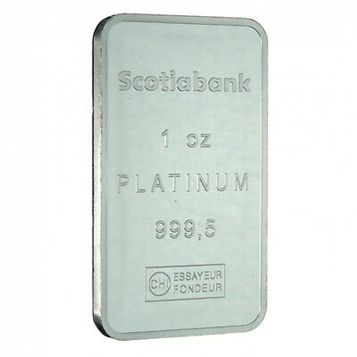 1 oz Platinum Swiss (Switzerland) Scotiabank (Valcambi) Bar