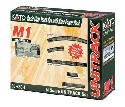 Kato Master 1 M1 Basic Oval Track Set with Kato Power Pack 20-850