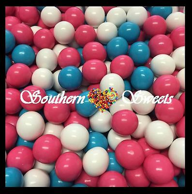 Pink White Blue Chocolate Candy Balls 1Kg Pink White Blue Lollies Baby Shower