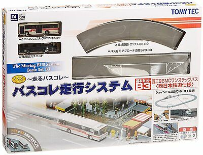 Tomytec Moving Bus System Basic Set B3 (Red Bus) 1/150 N scale New Japan