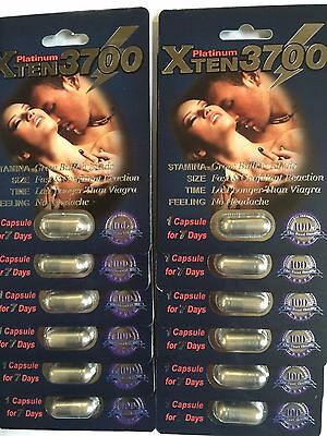XTEN 3700 Platinum Libido Enhancement Capsule Sex Pill ORIGINAL 2x