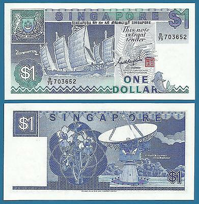 Singapore 1 Dollar P 18 a ND (1987) UNC Low Shipping! Combine FREE! (P-18a)