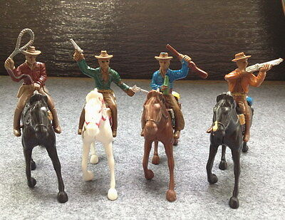 4 Pcs G Scale 1:25  WILD WEST COWBOY FIGURES & HORSES