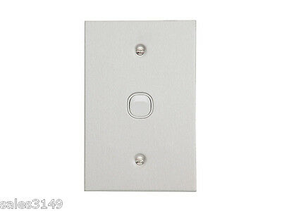 Clipsal 1 One Single Wall Plate Slim Stainless Steel Metal Plate BSL31VA w Mech