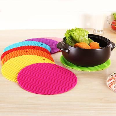 Silicone Round Trivet Table Heat Resistant Mat Cup Coaster Cushion Placemat Pad