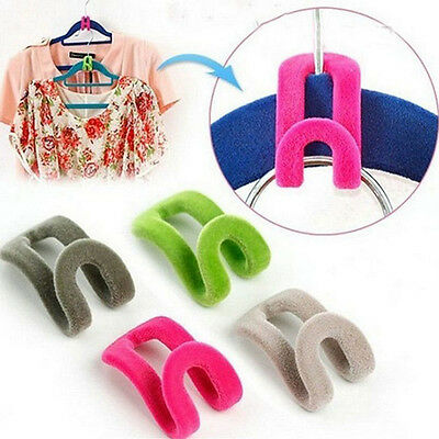 10pcs Home Creative New Mini Flocking Clothes Hanger Hook 2015 For Room Chic