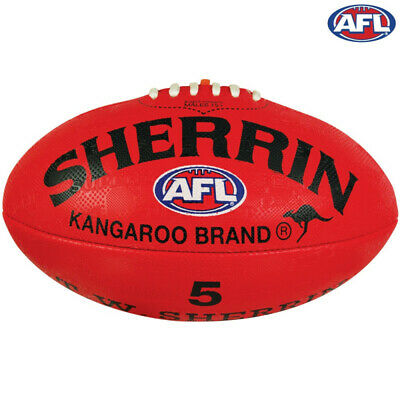 Sherrin Synthetic Supergrip AFL Football Red