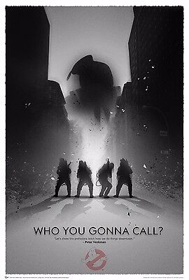 "NEW Ghostbusters Movie Art Silk Poster WHO YOU GONNA CALL 20""X13"" 047"