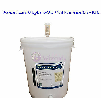 American Style All Purpose 30L fermenter Homebrew bucket make your own beer