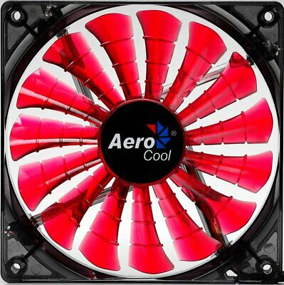 Aerocool Shark Devil Red Edition LED Lüfter 140 mm PC Gehäuselüfter Rot