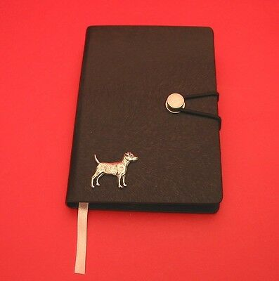 Patterdale Terrier Dog Motif A6 Black Soft Touch Journal Dog Christmas Gift