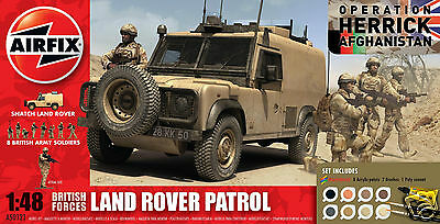 A50121 Airfix British Forces Land Rover Patrol 1:48 Scale Model Kit Brand New