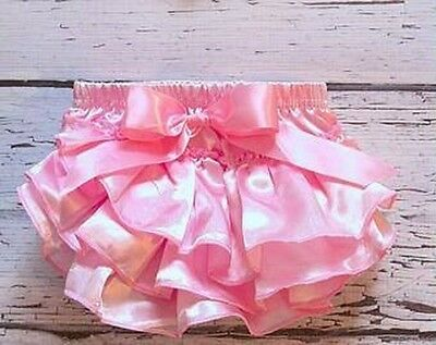 Brand New Girls Kids Infant Pink Satin Tutu Skirt 1-2 2-3 Years Party Xmas Gift