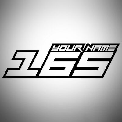 4x CUSTOM RACE NUMBERS AND NAME STICKERS DECALS MOTOCROSS DIRT BIKE TRIALS MX V2